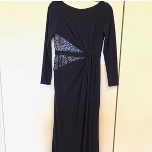Adriana papell navy blue dress